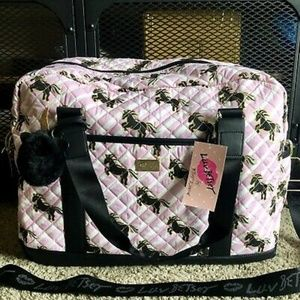 Betsey Johnson Unicorn Large Weekender Bag